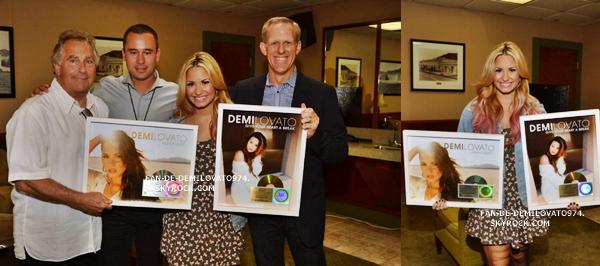 Demi lorsqu'elle a reçu ses disque d'or et de platine !