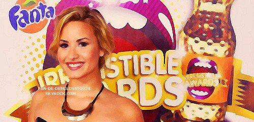 La nuit dernière à eu lieu les Fanta Irresistible Awards, et vous le savez, Demi était présente à la cérémonie qui se déroulait à Mexico!
