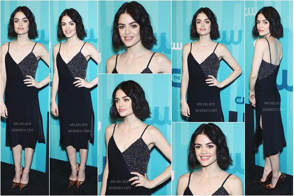 """- 18/05/17 : Lulu, resplendissante, était à la soirée des upfronts de la chaîne CW à The London Hotel (NY). Lucy y était afin de promouvoir sa nouvelle série """"Life Sentence"""" attendue pour 2018, je vous en parle plus haut. Top. -"""