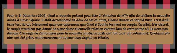 • Apparitions ►  Le 31 Décembre 2003/2004 - Chad Célèbre Le Nouvel An