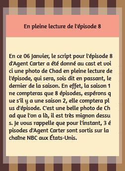• Twitter ►  Le 06 Janvier 2015 - Lecture De L'Episode 8 Avec Le Cast