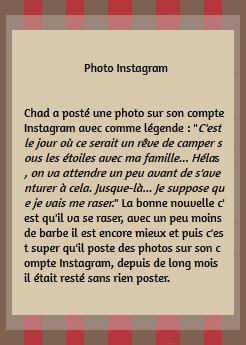 • Instagram ►  Le 28 Juin 2015 - Photo posté sur les réseaux sociaux