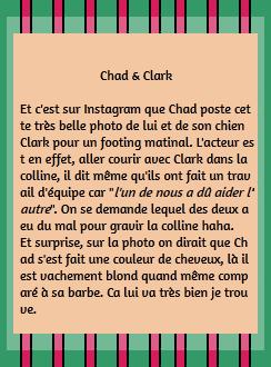 • Instagram ►  Le 1er Juillet 2015 - Footing matinal avec Clark