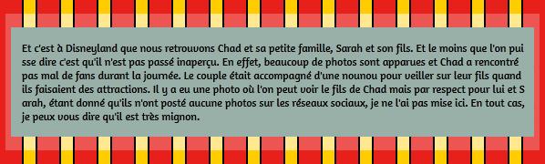 • Photos Avec Les Fans ►  Le 23 Juin 2015 - Chad et sa famille à Disneyland
