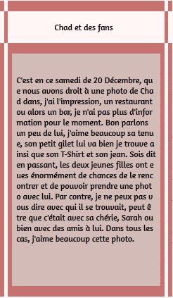 • Photos Avec Les Fans ►  Le 20 Décembre 2014 - Chad Et Des Fans