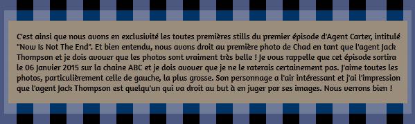 • Stills ►  Le 20 Décembre 2014 - Stills du 1er Episode d'Agent Carter