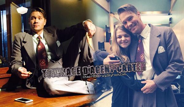 • Tournage ►  Le 18 Décembre 2014 - Chad Sur Le Tournage d'Agent Carter