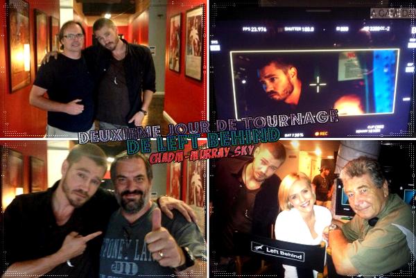 • Tournage ►  Le 10 Août 2013 - Instagram + Tournage de Left Behind