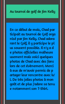 • Apparitions ►  Le 02 Juin 2014 - Chad Pour Le Tournoi De Golf De Jim Kelly