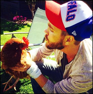 • Instagram ►  Le 06 Novembre 2013 - Chad et... Une Poule