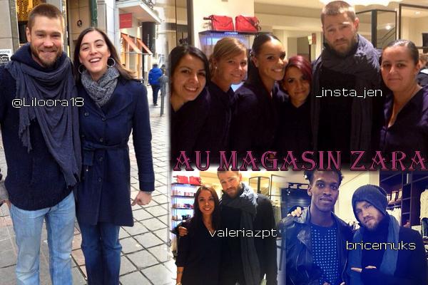 • Photos Avec Les Fans ►  Le 14 Novembre 2013 - Chad En Belgique Dans Le Magasin Zara