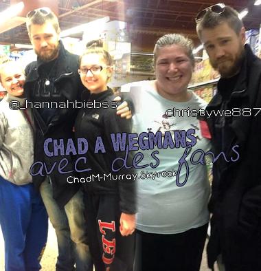 • Photos Avec Les Fans ►  Le 01 Décembre 2013 - Chad A Wegmans Et En Voiture