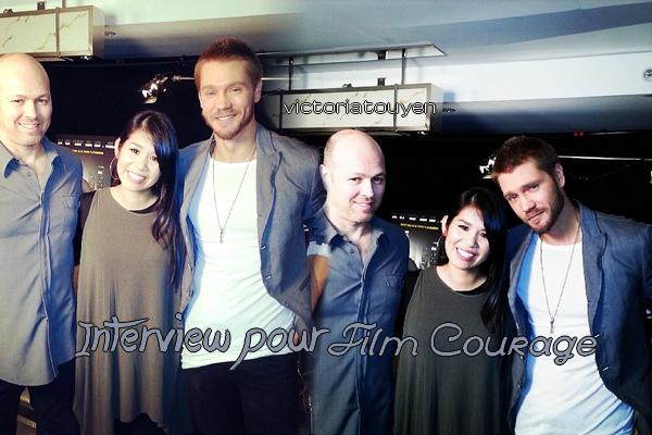 • Interview ►  Le 05 Février 2014 - Après l'interview pour Film Courage