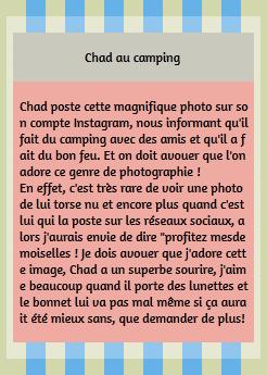 • Instagram ►  Le 26 Avril 2014 - Chad Au Camping Avec Des Amis !