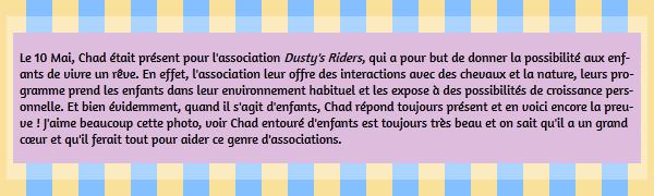 • Apparitions ►  Le 10 Mai 2014 - Chad Avec Des Enfants Pour Une Association