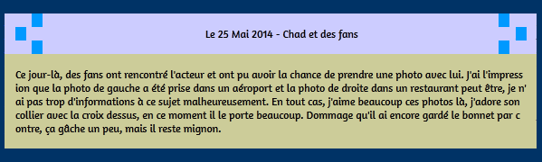 • Photos Avec Les Fans ►  Le 25 Mai 2014 - Chad En Compagnie De Fans