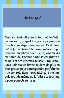 • Photos Avec Les Fans ►  Le 01 Juin 2014 - Chad Fait Du Golf