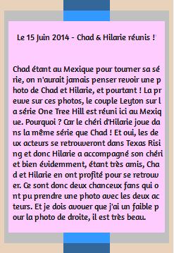 • Photos Avec Les Fans ►  Le 15 Juin 2014 - Chad & Hilarie Réunis Au Mexique