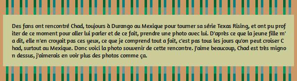 • Photos Avec Les Fans ►  Le 12 Juillet 2014 - Chad Et Des Fans A Durango
