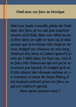 • Photos Avec Les Fans ►  Le 10 Août 2014 - Chad En Companie De Fans