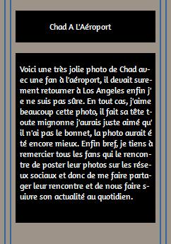 • Photos Avec Les Fans ►  Le 20 Août 2014 - Chad A Un Aéroport Au Mexique