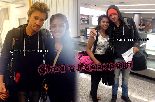 • Photos Avec Les Fans ►  Le 22 Août 2014 - A L'Aéroport De Charlotte