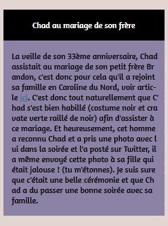 • Photos Avec Les Fans ►  Le 23 Août 2014 - Chad Au Mariage De Son Frère Brandon