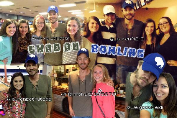 • Photos Avec Les Fans ►  Le 13 Septembre 2014 - Chad Dans Un Bowling