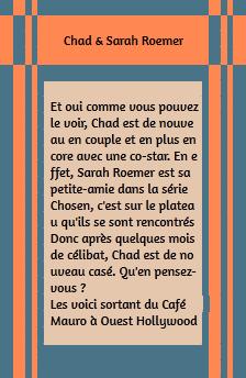 • Candids ►  Le 02 Octobre 2014 - Chad & Sarah Sortant Du Mauro's Café A Ouest Hollywood