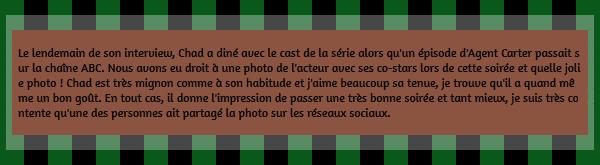 • Candids ►  Le 28 Janvier 2015 - Dinner Avec Le Cast De La Série