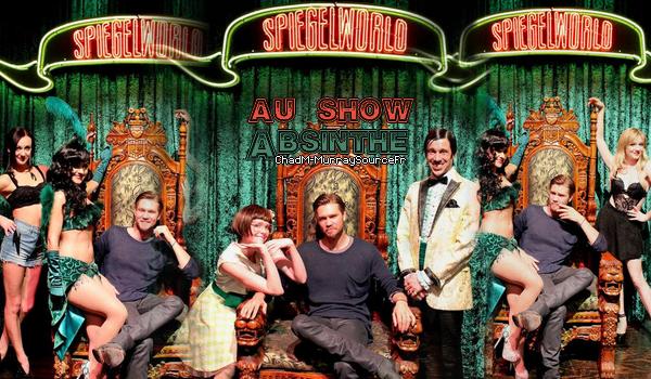 """• Apparitions ►  Le 21 Février 2015 - Chad A Las Vegas Pour Voir Le Show """"Absinthe"""""""
