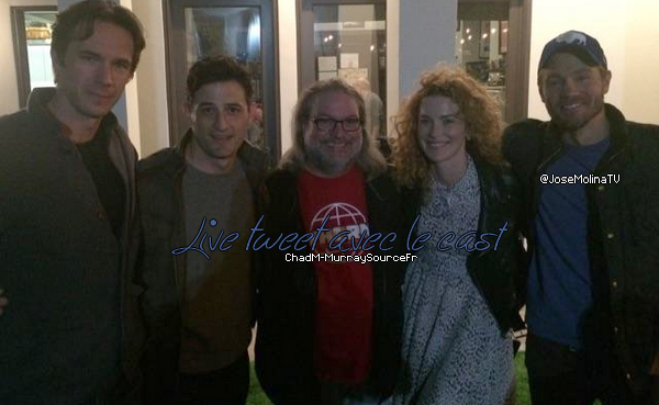• Candids ►  Le 24 Février 2015 - Chad En Live Tweet Avec Le Cast