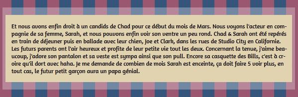 • Candids ►  Le 03 Mars 2015 - Chad & Sarah Dans Les Rues De Studio City