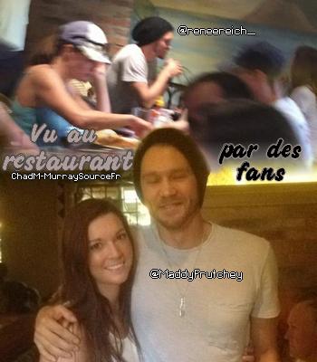 • Photos Avec Les Fans ►  Le 15 Mars 2015 - Au Restaurant Avec Sarah