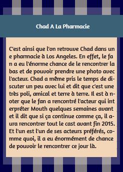 • Photos Avec Les Fans ►  Le 11 Avril 2015 - Chad Et Un Fan Dans Une Pharmacie
