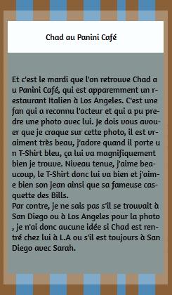 • Photos Avec Les Fans ►  Le 28 Avril 2015 - Chad Au Panini Café