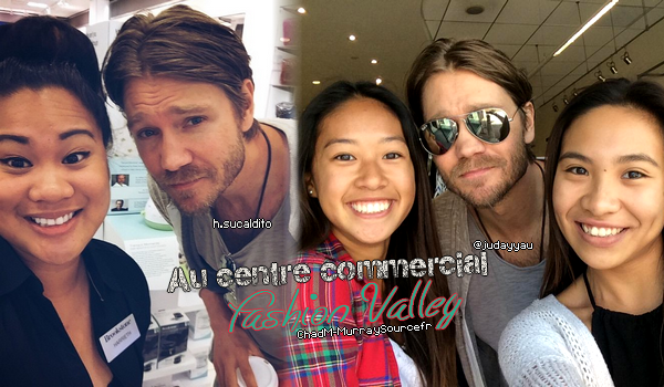 • Photos Avec Les Fans ►  Le 03 Mai 2015 - Chad Au Centre Commercial Fashion Valley