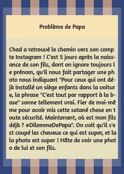 • Instagram ►  Le 04 Juin 2015 - Problème de Papa