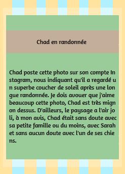 • Instagram ►  Le 23 Juillet 2015 - Chad A Fait Une Randonnée  Instagram