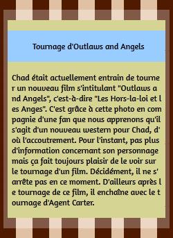 • Tournage ►  Le 19 Août 2015 - Tournage de son nouveau film à Sante Fe Tournage