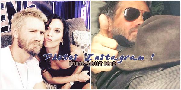 • Instagram ►  Le 26 Août 2015 - Chad & Hilarie & Sur Le Tournage  Instagram | Tournage