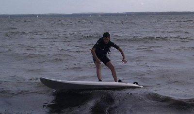 Quand il n'y pas de trotoire il reste la mer :)