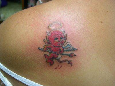 Idee De Tattoo Lequel Choisir Mi Ange Mi Demon C Est Moi Je Prefere Le Premier Et Vous Ludycreation