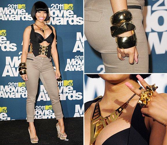 MTV STYLE: Nicki Minaj Rocked The Best Accessories @ 2011 MTV Movie Awards