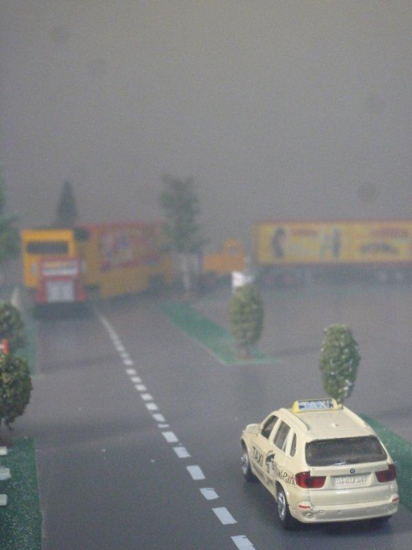 Départ dans le brouillard