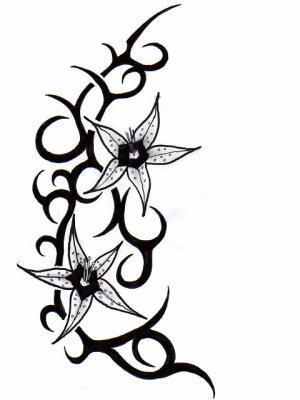 Dessin Tribal Fleur tribal a fleur - mon sky à moi