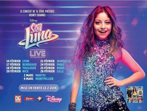 Tournée - Soy Luna Live en France !