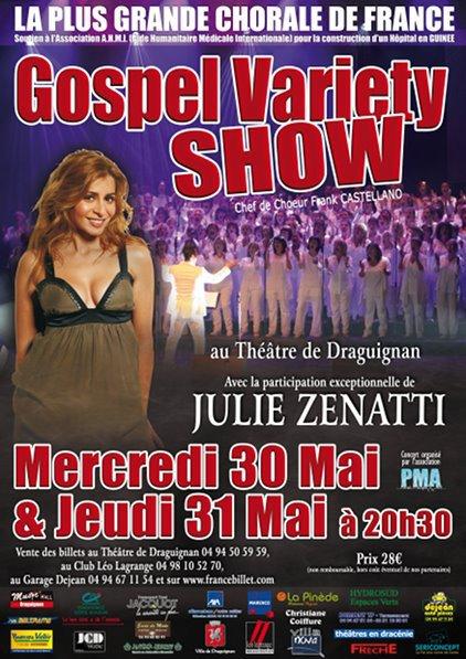 Julie Zenatti au Gospel Variety Show les 30 et 31 Mai
