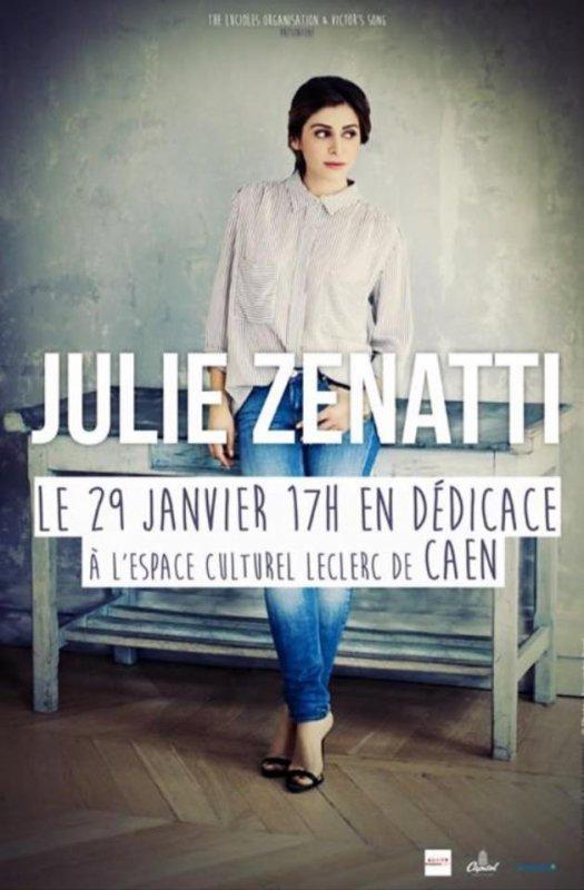 Julie Zenatti en séance de dédicaces le 29 Janvier 2016 à 17h à l'Espace Culturel Leclerc de Caen