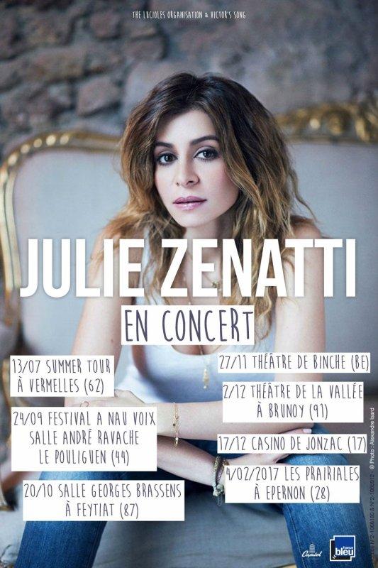 Julie Zenatti annonce sa tournée !